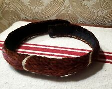 """Antique Hawaiian Feather Lei / Hat Band - 1960-70. 26.5"""""""