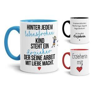Tasse mit Spruch für Erzieher - Lustig / Kita / Geschenk / Kindergarten / Danke