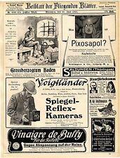 Voigtländer & Sohn Braunschweig Kameras Carl Zeiss Jena Kameras u.Objektiven1907
