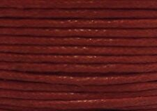"WAXED COTTON CORD Size 1.00 mm ""  RED "" 15 feet"
