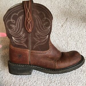 Ariat Fatbaby Heritage Dapper Brown Boots Womens Size 9
