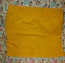 Loudmouth Ladies Yellow Golf Skort Skirt Size 8 Golfing