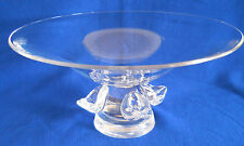 Steuben Crystal Footed Bowl - Tazza Fruit Centerpiece