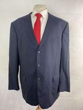 Ermenegildo Zegna Men's Blue Striped Wool Blazer 46L $2,195