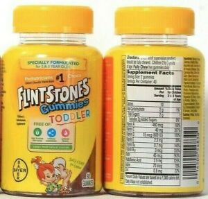 1 Bayer Flintstones Gummies Toddler 2 To 3 Years  Multivitamin Supplement BB1-22
