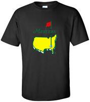 Masters Golf Tournament LOGO 2020 tour Men's T-Shirt S- 5XL black