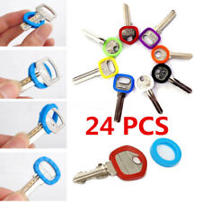 24 Bright Colors Hollow Silicone Key Cap Covers Topper Keyring With Bly Braille