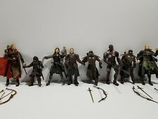 Loose Lot of 8 LOTR Lord Of The Rings Action Figures Trolls Elves, legolas