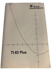 Ti-83 Plus Graphing Calculator Instruction Manual Book Only