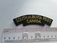 Military Army Title Shoulder Patch South Alberta Regt Canada