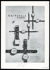 1947 Universal Geneve tri-compax etc 7 watch photo vintage print ad
