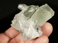 A FLUORITE Crystal Cluster With Calcite Crystals Xianghualing Mine 142gr