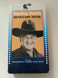 Hopalong Cassidy VHS Renegade Trail William Boyd+George Hayes 1939 Classic FP