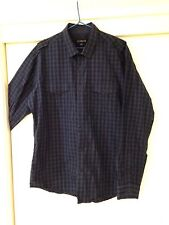 Connor Men's Checkered Button Front Shirt Size L Good Condition