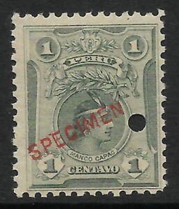 STAMPS-PERU. 1909. 1c Greenish Grey ABNCo Specimen. SG: 373a var. MNH