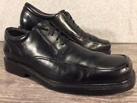 BOSTONIAN Men's Black Leather Square-Toe Lace-Up Oxfords US 10.5 W