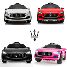 12V Kids Ride On Car  with LED&MP3 Remote Maserati Ghibli Electric Toy 4 Colors