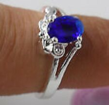 New fashion 1pcs S80 silver crystal women CZ Gemstones rings Size6/M