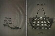 Publicité 1992  (double page)  VALENTINO sac à main chaussure collection mode