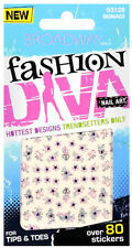 Over 80 Broadway Fashion Diva Nail Stickers for Tips and Toes,Keep Me Style,New
