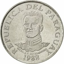 [#420919] Paraguay, 50 Guaranies, 1988, SUP, Stainless Steel, KM:169
