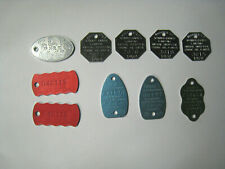 Lot Of 10 Vintage Dog Tags Chicago suburbs