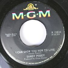 50'S & 60'S 45 Sandy Posey - I Can Show You How To Live / Are You Never Coming H