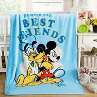 "39""x55"" Disney Mickey Mouse Silky Flannel Blanket Throw Plush Bedding Home Decor"