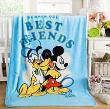 "Popular Disney Mickey Mouse Plush Silky Flannel Blanket Throw Bedding 39""x55"" A+"