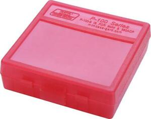 9mm / 380 Ammo Box Clear Red 100 Round (Quantity 1) Buy 5 Get 1 Free (MTM)