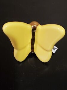 Nora Fleming retired mini A228 Yellow Butterfly platter charm