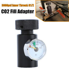 Cnc Co2 Cylinder Refill Adapter Connector Gas Regulator Fill Station 3000psi 1/8