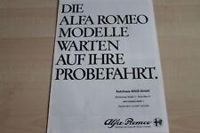 108234) Alfa Romeo 6 - Alfetta - GTV 6 / 2.5 - Spider Prospekt 01/1982