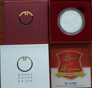 Österreich 2010 10€ Der Erzberg in der Steiermark Silber PP