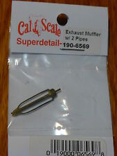 Cal-Scale HO #6569 Exhaust Muffler w/2 Pipes (Brass Casting)