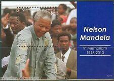 DOMINICA  2014  NELSON MANDELA MEMORIAL SOUVENIR SHEET    MINT NH