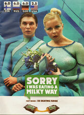 2012 Print ad for Milkyway~Olympic skaters~funny (073113)