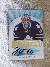 Toronto Maple Leafs Jussi Rynnas Signed 12/13 UD Artifacts Rookie Card Auto /999