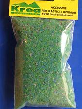 Fiocchi warhammer verdi con fiori blu per plastico o diorama gr. 25 - Krea 1012