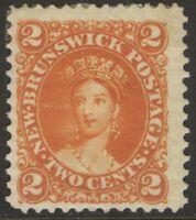 NEW BRUNSWICK 7 2c ORANGE 1863 CENTS ISSUE QUEEN VICTORIA MPH