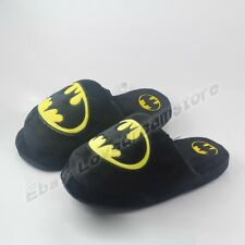 One Pair Super Hero Batman Logo Cosplay Soft Plush Slipper Slippers Free Size