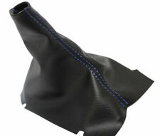For Ford Mustang 2005-10 Shift Boot Black Genuine Leather White Stitching