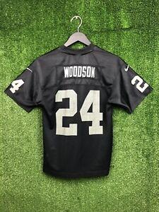 Vintage Nike Oakland Raiders Charles Woodson Jersey Youth Medium Hall of Fame
