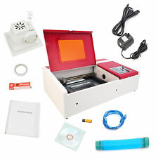 "Laser Engraving Machine 12""x 8"" Engraver Cutter *w/ Exhaust Fan USB Port 40W CO2"