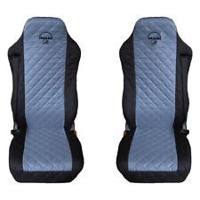 MAN TGA , TGL , TGM , TGS , TGX Truck Seat Covers 2 pieces BLACK AND GREY