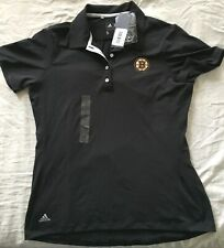 Boston Bruins Adidas black women's ladies golf or polo shirt BRAND NEW WITH TAGS