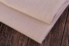 0,5m 100% Tejido de algodón, lino óptica, Natural Crudo color beige
