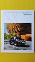 Lexus NX Hybrid SE F Sport Premier Luxury brochure catalogue October 2017 MINT
