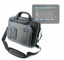 Cushioned Black & Blue Protective Carry Case for Kurio 10S w/ Wrist Strap