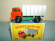 "MATCHBOX  LESNEY MODEL NO.26c      "" G.M.C. TIPPER TRUCK  ""       VN MIB"